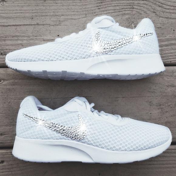 Swarovski Crystal Bling Nike Tanjun White 2abdf827a639